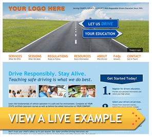drivers education scheduling software options online website templates